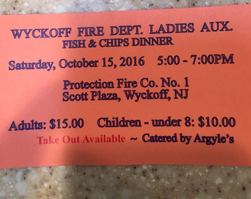 Ladies Auxiliary to Hold Annual Fish and Chips Dinner