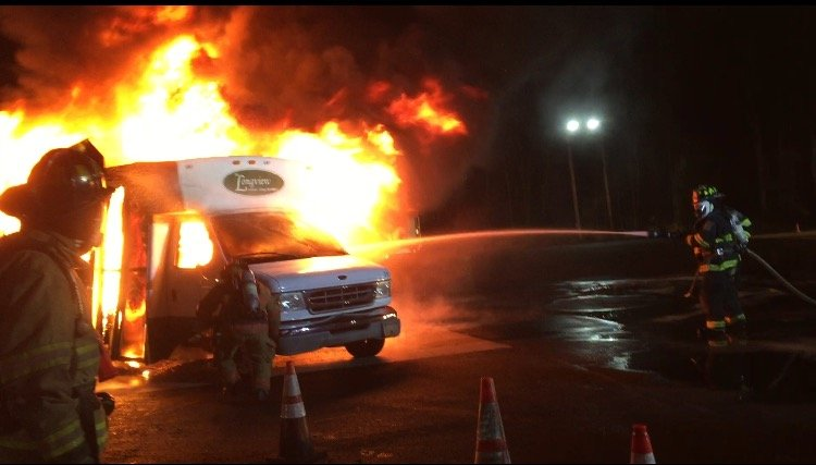 Company 1 Participates in Car Fire Live Burn at BCFA