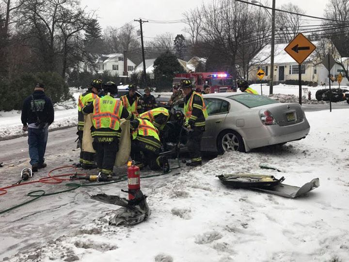 WFD responds to MVA with entrapment