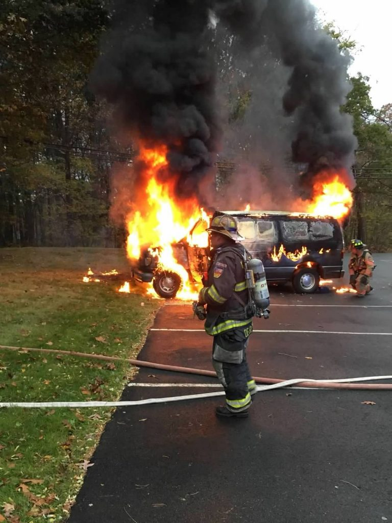 Wyckoff FD Handles Fully Involved Van Fire at The Christian Healthcare Center